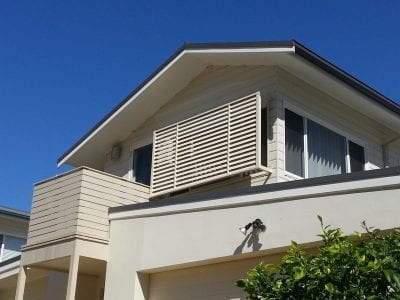 Privacy Screen Louvers with standoff Legs