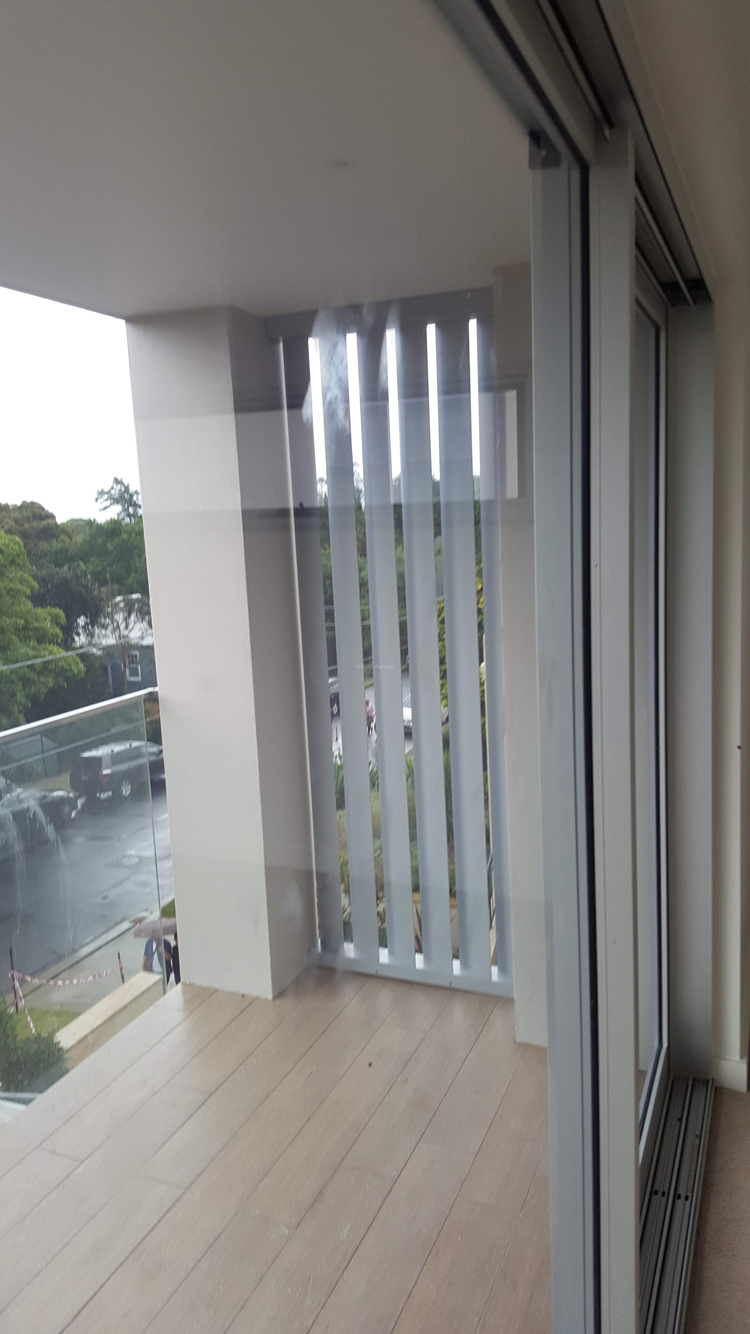 Privacy Screen Louver With 160 Fixed Vertical Blades Eco