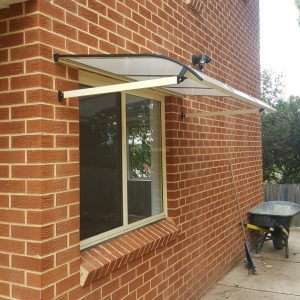 Carbolite window awning _ bull nose _ epping side view 1