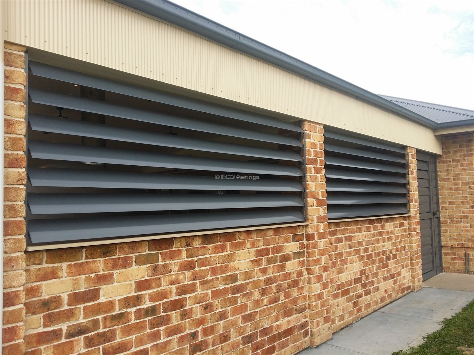 Louver Doors With 160mm Adjustable Louver Blades Eco Awnings