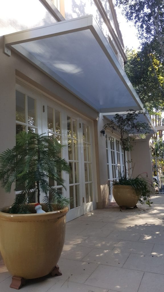 Slimline Awnings White Frame Over Side Doors Eco Awnings