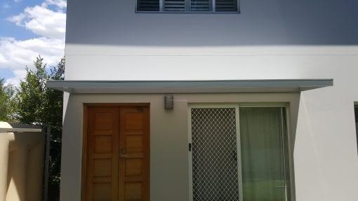 Slimline polycarb awning