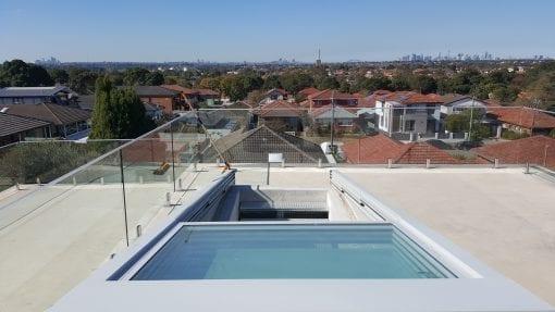 Retractable Glass Roof over Door