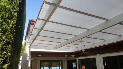 Roof Mounted twin wall Polycarb Patio