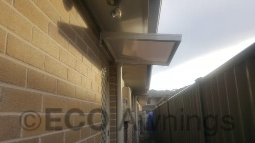 Canter Lever Slimline twinwall polycarb awnings