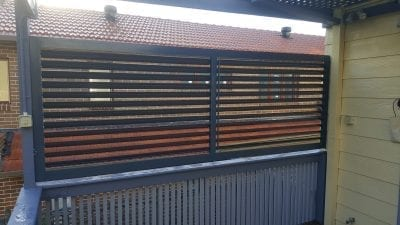 Louvers Adjustable 85 mm Privacy screen