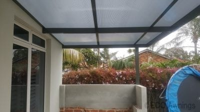 twinwall Polycarb Patio cover over BBq area
