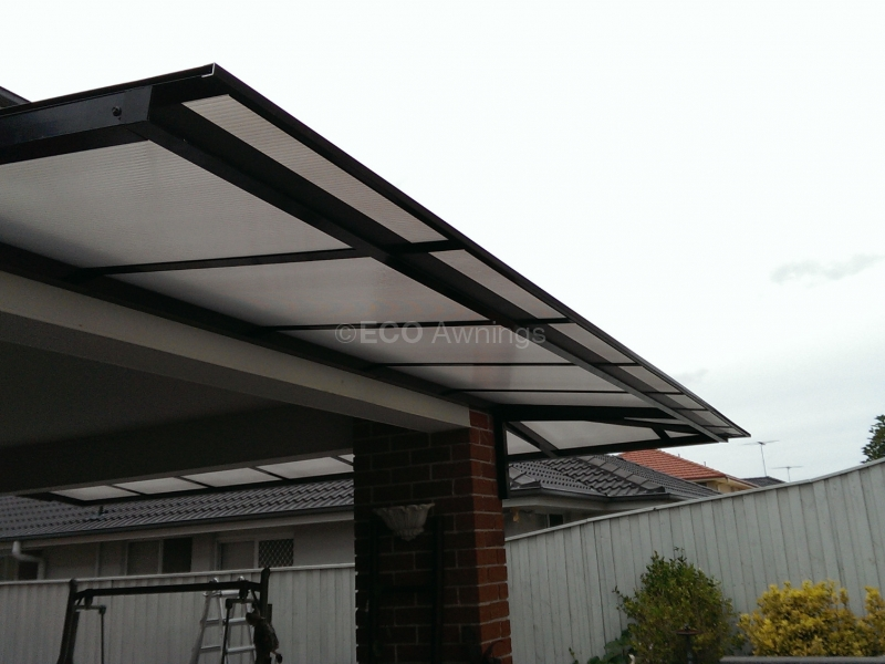 Cantilever Polycarb Awnings - Eco Awnings
