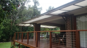 Canter lever awning