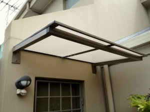 canterlever door awning